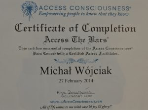 Michał Wójciak dyplom access consciousness